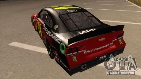 Chevrolet SS NASCAR No. 24 AARP para GTA San Andreas vista traseira