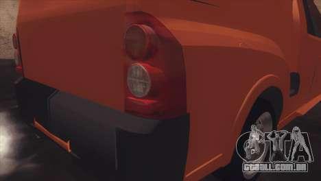 Chevrolet Montana Combo para GTA San Andreas vista traseira