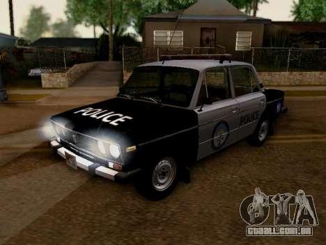 Polícia de Los Santos VAZ 2106 para GTA San Andreas vista interior