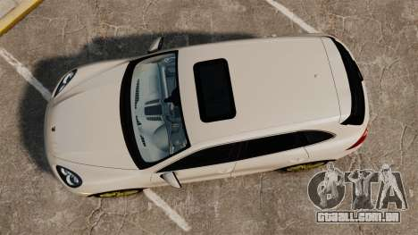 Porsche Cayenne Turbo 2012 v3.5 para GTA 4 vista direita