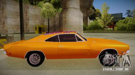 Dodge Charger 1969 (general lee) para GTA San Andreas traseira esquerda vista