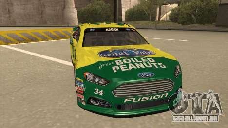 Ford Fusion NASCAR No. 34 Peanut Patch para GTA San Andreas esquerda vista