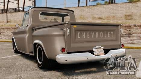 Chevrolet C-10 Stepside v2 para GTA 4 traseira esquerda vista