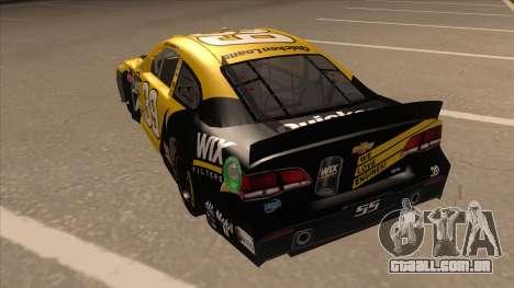 Chevrolet SS NASCAR No. 39  Wix Filters para GTA San Andreas vista traseira