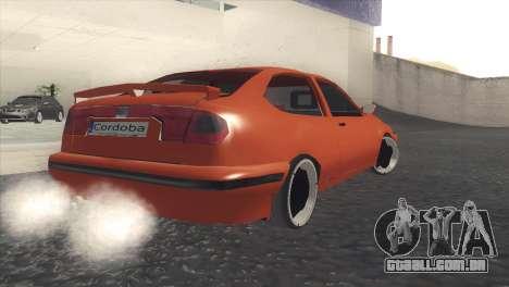 Seat Cordoba SX para GTA San Andreas traseira esquerda vista