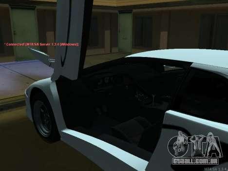 Lamborghini Diablo SV v2 para GTA San Andreas vista traseira