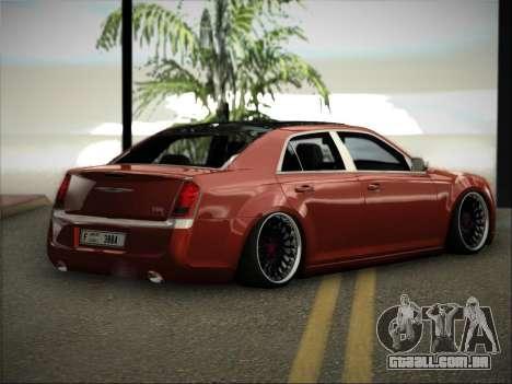 Chrysler 300C Stance para GTA San Andreas esquerda vista