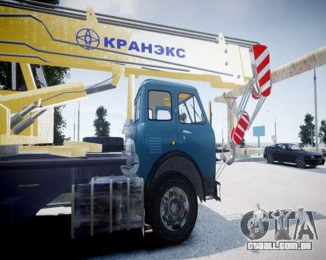 MAZ 500 KS3577-4-4 KRANEKS para GTA 4 traseira esquerda vista