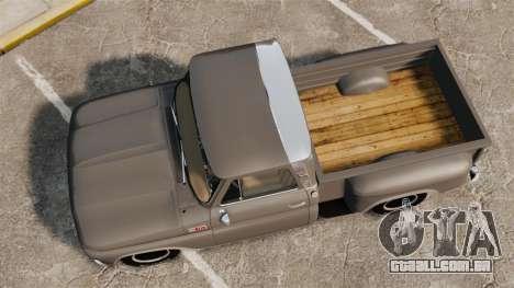 Chevrolet C-10 Stepside v2 para GTA 4 vista direita