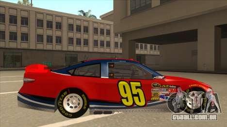 Ford Fusion NASCAR No. 95 para GTA San Andreas traseira esquerda vista