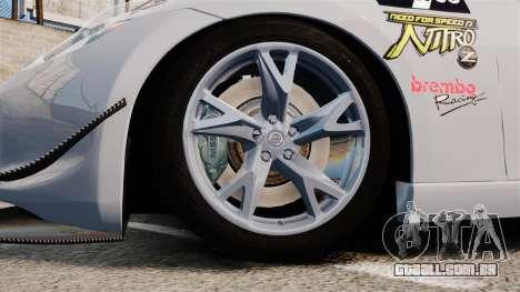 Nissan 370Z para GTA 4 vista de volta
