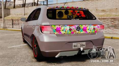 Volkswagen Gol Rally 2012 Socado Turbo para GTA 4 traseira esquerda vista