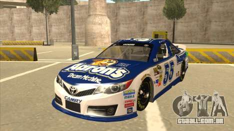 Toyota Camry NASCAR No. 55 Aarons DM white-blue para GTA San Andreas