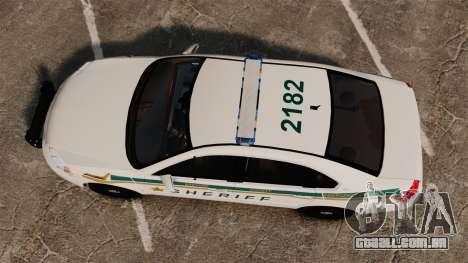 Chevrolet Impala BCSD 2010 [ELS] para GTA 4 vista direita