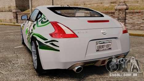 Nissan 370Z para GTA 4 traseira esquerda vista