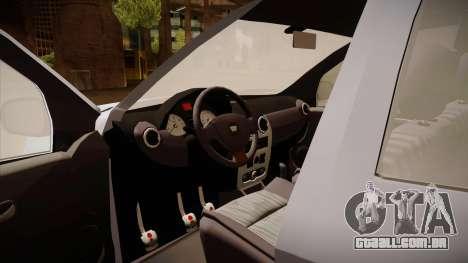 Dacia Duster Elite para GTA San Andreas vista interior