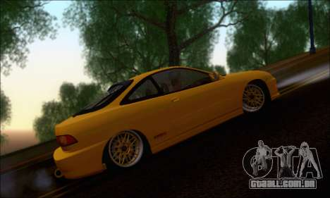 Honda Integra Type-R Hellaflush para GTA San Andreas traseira esquerda vista