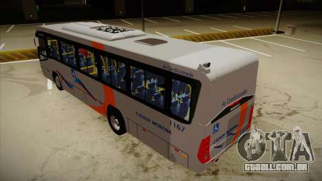 Marcopolo Senior Midi MB OF 1418 Cidade Morena para GTA San Andreas vista traseira