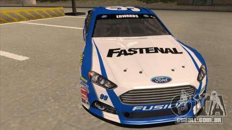 Ford Fusion NASCAR No. 99 Fastenal Aflac Subway para GTA San Andreas esquerda vista