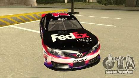 Toyota Camry NASCAR No. 11 FedEx Freight para GTA San Andreas esquerda vista