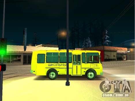 GROOVE escola 32053-70 para GTA San Andreas traseira esquerda vista