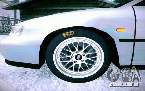 Honda Accord Wagon para GTA San Andreas vista inferior