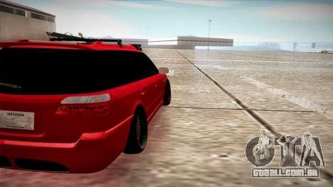 Subaru Legacy Wagon Hellaflush para GTA San Andreas traseira esquerda vista