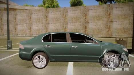 Skoda SuperB 2009 para GTA San Andreas traseira esquerda vista