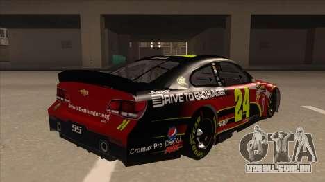 Chevrolet SS NASCAR No. 24 AARP para GTA San Andreas vista direita