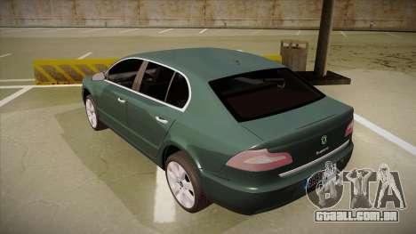 Skoda SuperB 2009 para GTA San Andreas vista traseira