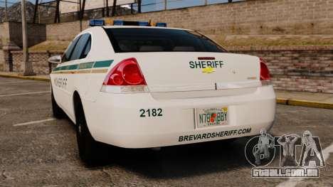 Chevrolet Impala BCSD 2010 [ELS] para GTA 4 traseira esquerda vista