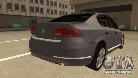 Volkswagen Passat 2.0 Turbo para GTA San Andreas vista direita