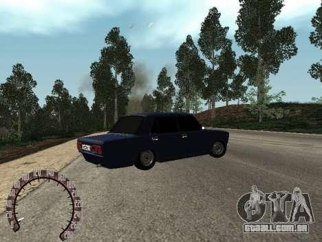 BPAN VAZ 2107 para GTA San Andreas traseira esquerda vista
