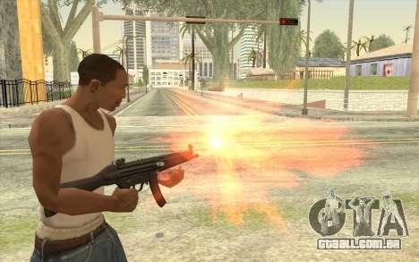 HK MP5 para GTA San Andreas terceira tela