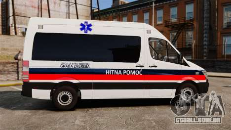 Mercedes-Benz Sprinter Zagreb Ambulance [ELS] para GTA 4 esquerda vista