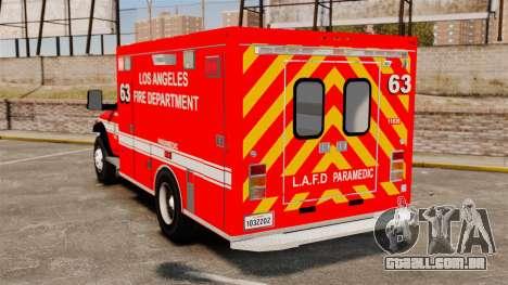 Dodge Ram 3500 2011 LAFD Ambulance [ELS] para GTA 4 traseira esquerda vista