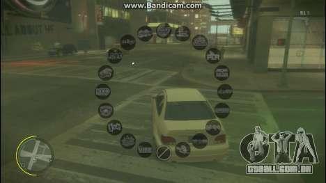 GTA V Radio HUD para GTA 4 segundo screenshot
