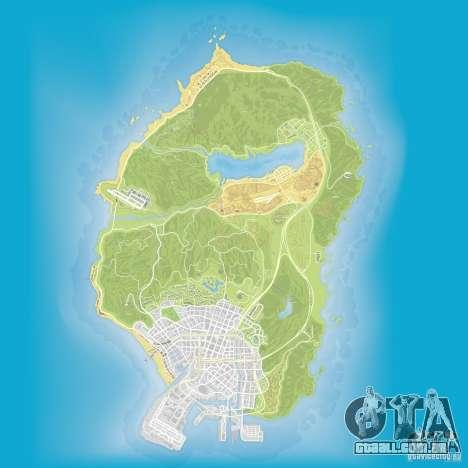 GTA V atlas map para GTA San Andreas terceira tela