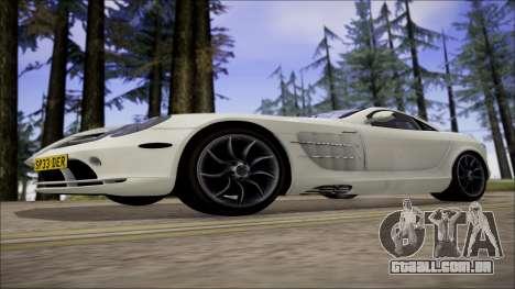 Mercedes-Benz SLR Mclaren para GTA San Andreas vista traseira