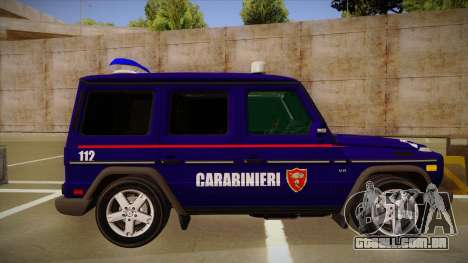 Mercedes Benz G8 Carabinieri para GTA San Andreas traseira esquerda vista