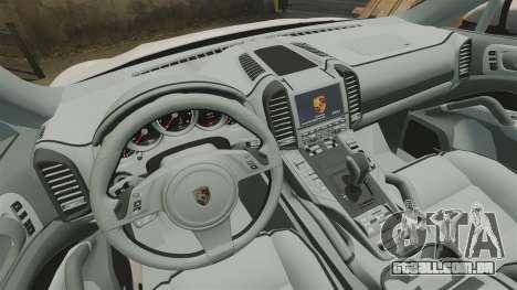 Porsche Cayenne Turbo 2012 v3.5 para GTA 4 vista interior