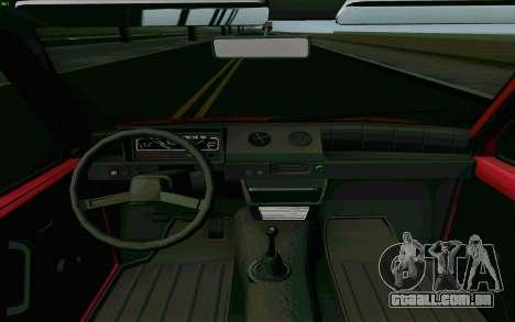 Kamaz Oka para GTA San Andreas vista interior