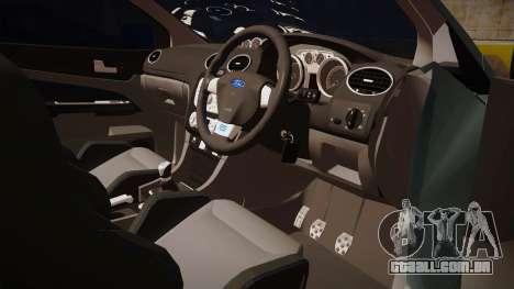 Ford Focus RS 2010 para GTA San Andreas vista traseira