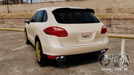 Porsche Cayenne Turbo 2012 v3.5 para GTA 4 traseira esquerda vista