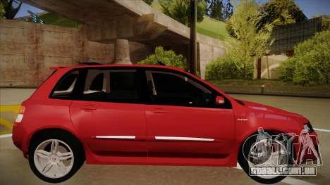 FIAT Stilo Sporting 2009 para GTA San Andreas traseira esquerda vista