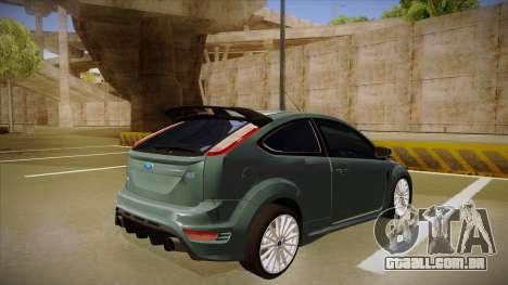 Ford Focus RS 2010 para GTA San Andreas vista direita
