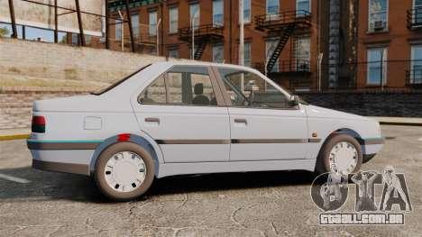 Peugeot 405 GLX Final para GTA 4 esquerda vista