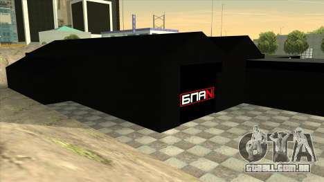 A garagem em Doherty BPAN para GTA San Andreas quinto tela