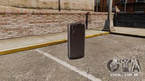 Comunicador ZTE Blade para GTA 4 terceira tela