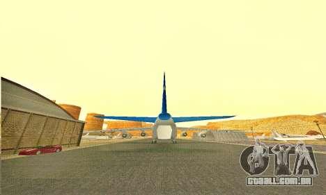 Andromada GTA V para GTA San Andreas traseira esquerda vista